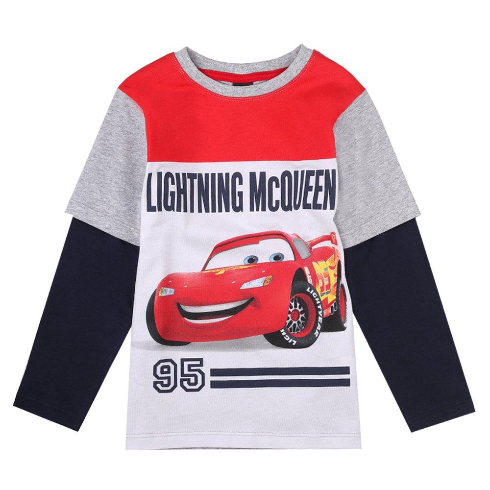 Cars Disney Ragazzi Maglietta, Melange Grigio Chiaro