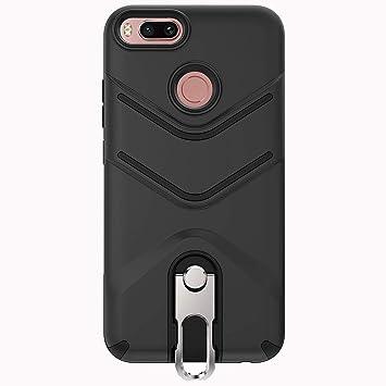 ykooe Funda Xiaomi Mi A1, Funda Xiaomi Mi 5X Carcasa Resistente TPU Híbrido de Doble Capa Case Cover para Xiaomi Mi A1/Mi 5X - Negro