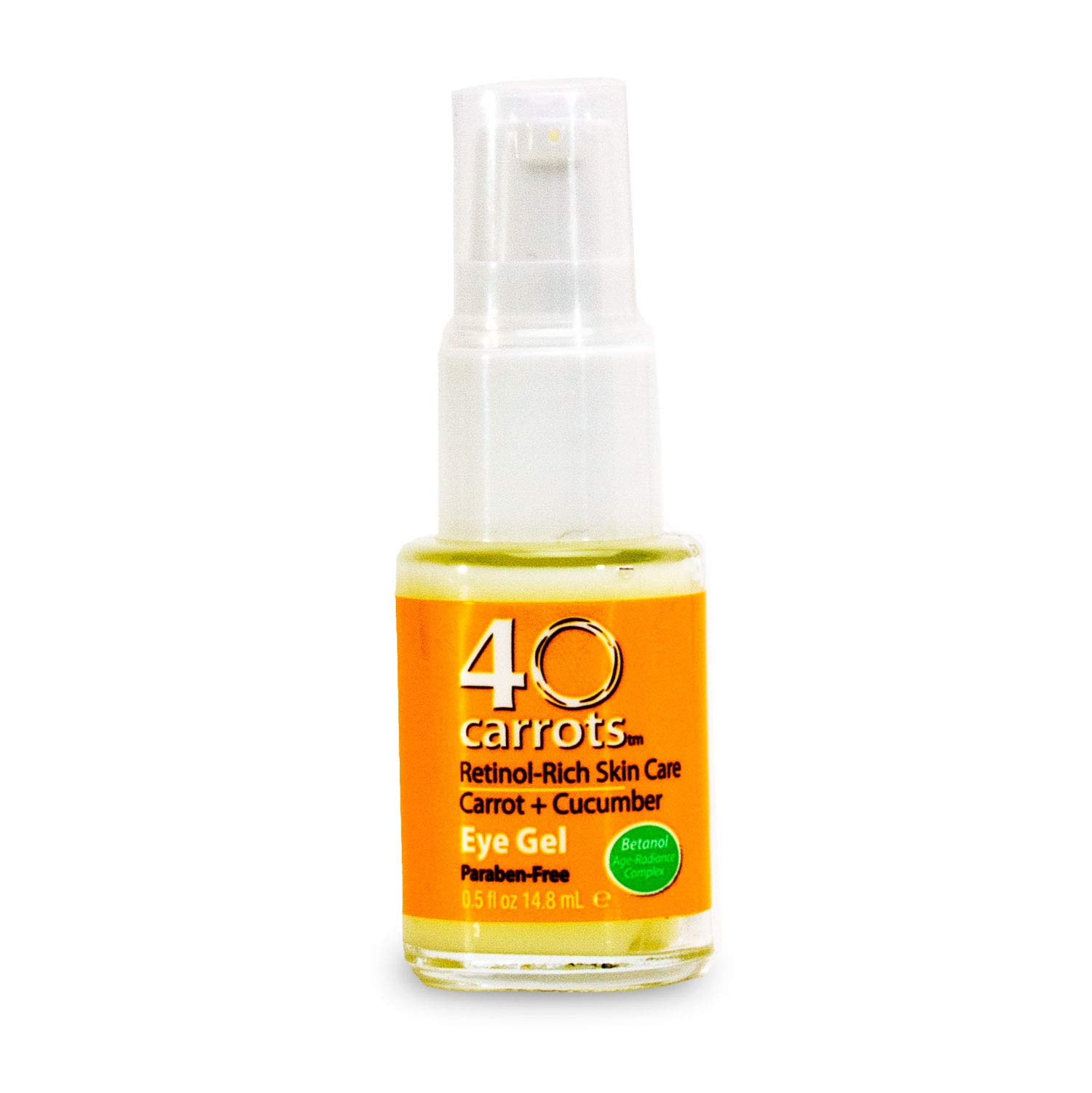 40 Carrots Carrot and Cucumber Eye Gel - Instantly De-ages and Wakes Up Tired Looking Eyes, Paraben Free (5 oz) by 40 Carrots