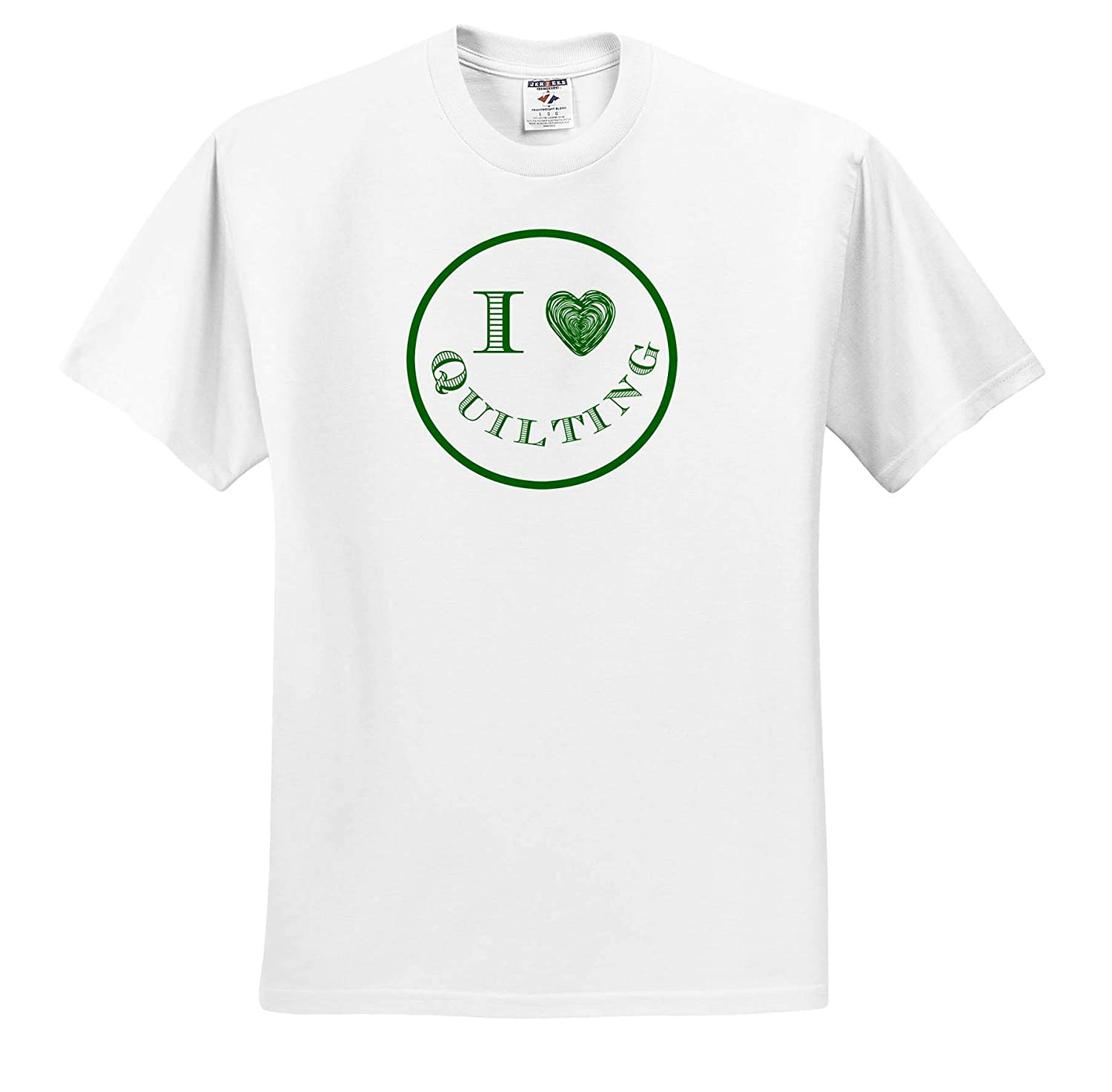 Image of I Love Quilting Adult T-Shirt XL ts/_310892 3dRose Carrie Merchant Image