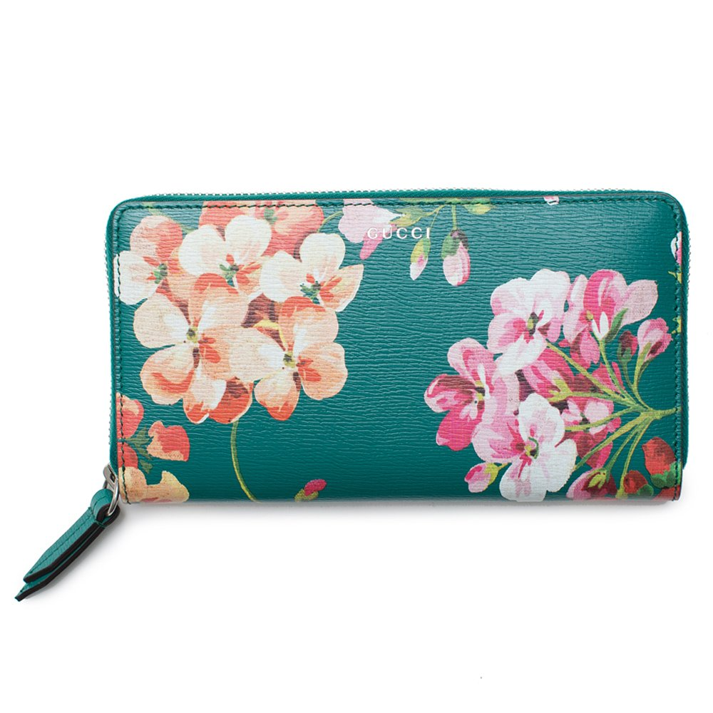 a4585720f15 Gucci Blooms Shanghai St Teal Green Blossoms Floral Leather Zip Around  Wallet Box New  Amazon.ca  Clothing   Accessories