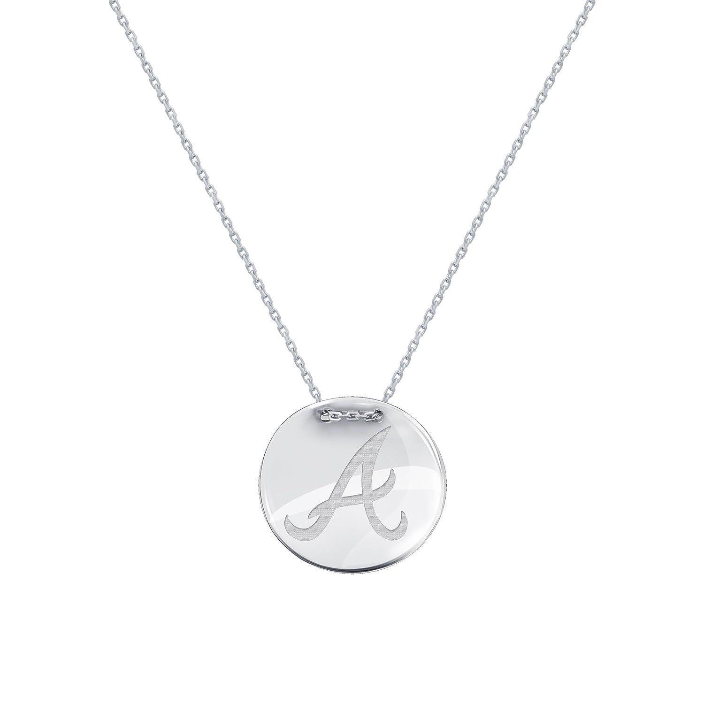 ecc45cd706a Amazon.com: DiamondJewelryNY Silver Pendant, MLB Atlanta Braves Tailored  Necklace: Jewelry