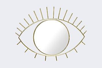 Amazon De Cyclops Eye Wandspiegel Spiegel Aus Glas Und Stahl Rahmen