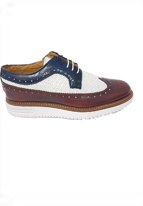 La Ultima Francesina - Mocasines de Piel Para Hombre Morado Size: 44 EU: Amazon.es: Zapatos y complementos