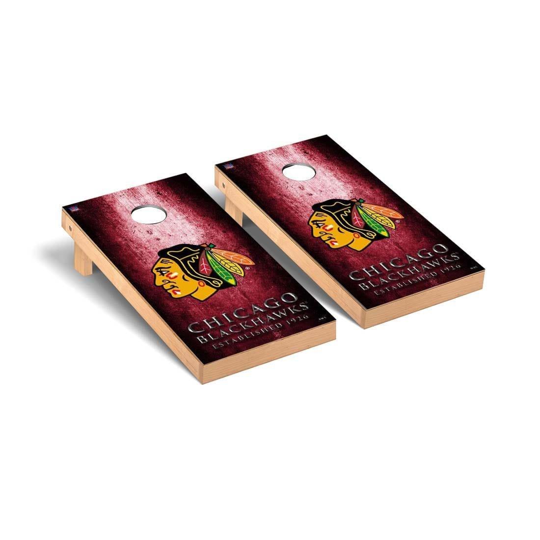Victory Tailgate Chicago Blackhawks NHL Regulation Cornhole Game Set Museum Version