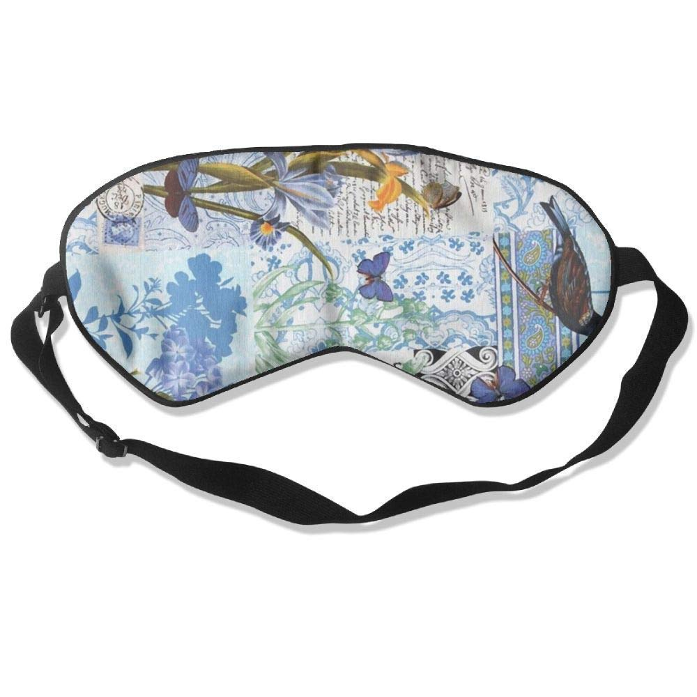 Vintage England Yard Silk Sleep Eye Mask Flexible & Breathable Eyeshade With Adjustable Strap