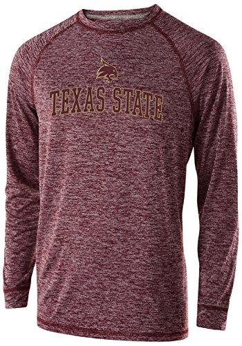 Ouray Sportswear NCAA Texas State Bobcats Men's Electrify Long Sleeve Tee, 2X, Maroon Heather