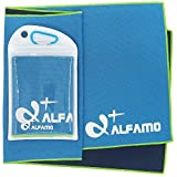 wwww Balhvit Cooling Towel Evaporative Chilly Towel For Yoga Golf Travel- Blue/Green-Large (47x14-Inch)