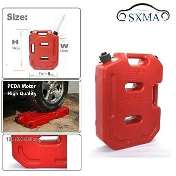 sxma Depósito de combustible latas para 2,6 gallon portátil aceite de combustible Gasolina Diesel