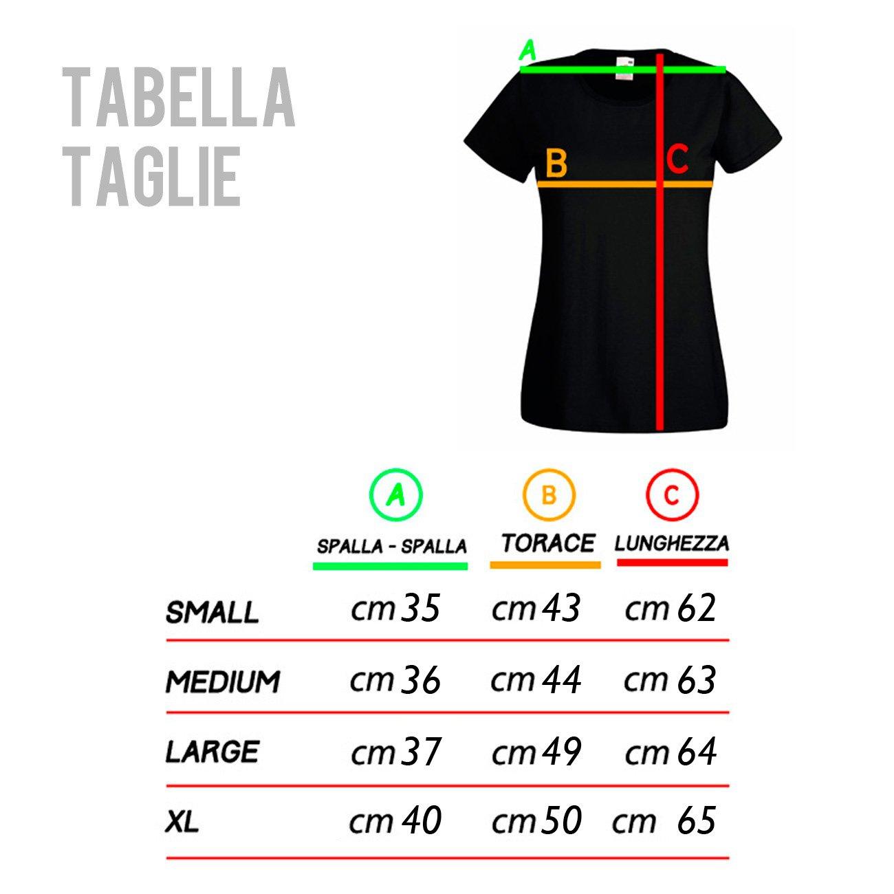 Maglietta 100/% Cotone LaMAGLIERIA T-Shirt Donna Muse Coloured Texture