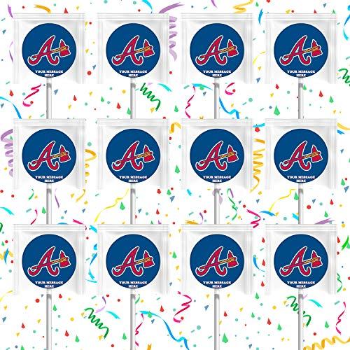 Atlanta Braves Lollipops Party Favors Personalized Suckers 12 Pcs ()