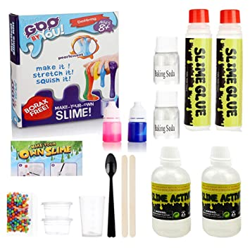 Large DIY Slime Making Kit Make Your Own Slime and Making The Best Slime Educational Toys Fluffy Slime Making Kit Ideal Gift for Boys and Girls by GoldenMonkeys 004