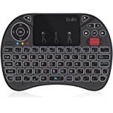Ewin® [2018新型] ミニ キーボード ワイヤレス式 2.4GHz 無線 マウスホイール付き タッチパッド搭載 マウスセット一体型 超小型 多機能ボタン USBレシーバー付き バックライト8色自由変更 Amazon fire TV、PS3、PS4、PS4 Pro、Raspberry PI、TV Box、Pro、HTPC、Google Smart TV、Andriod Smart TV、IPTV、Laptop、PC、Pad等対応Mini Keyboard 【日本語説明書&1年保証付き】