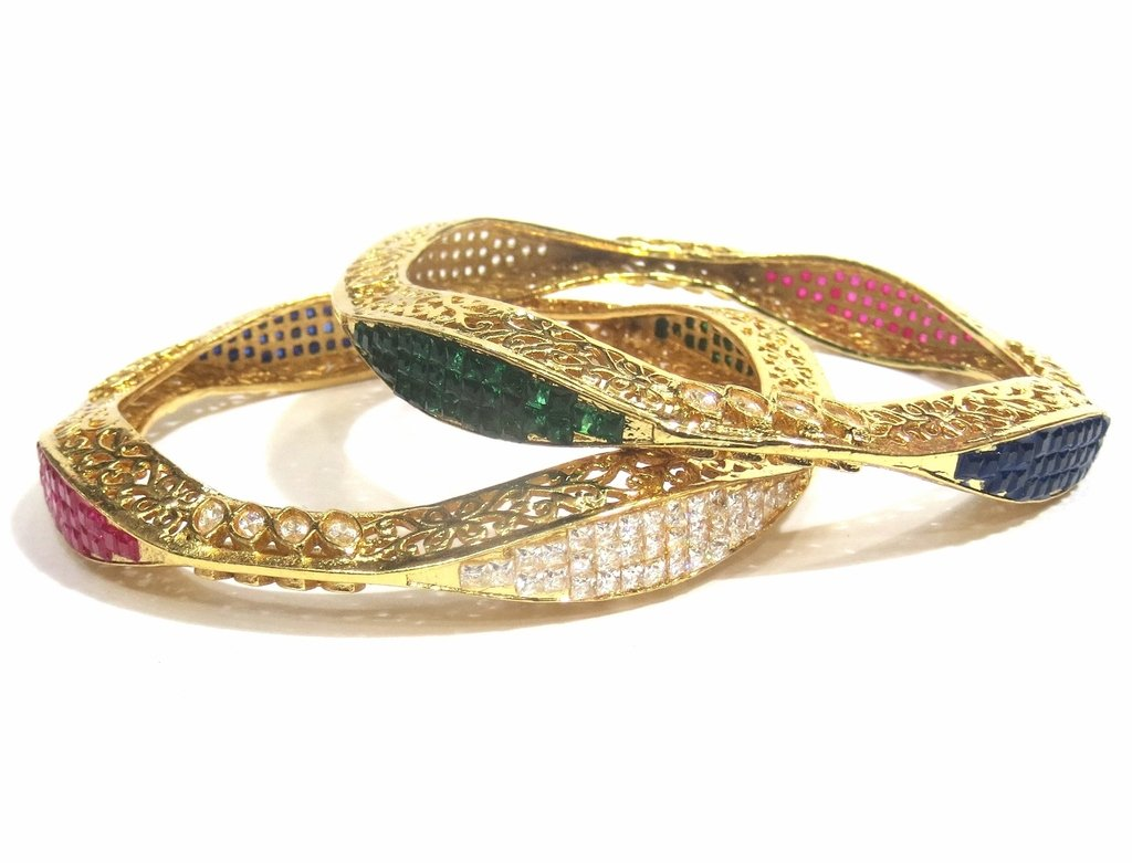 Jewelshingar Jewellery Fine Micro Plated Bangles For Girls ( 32524-m-2.6 )