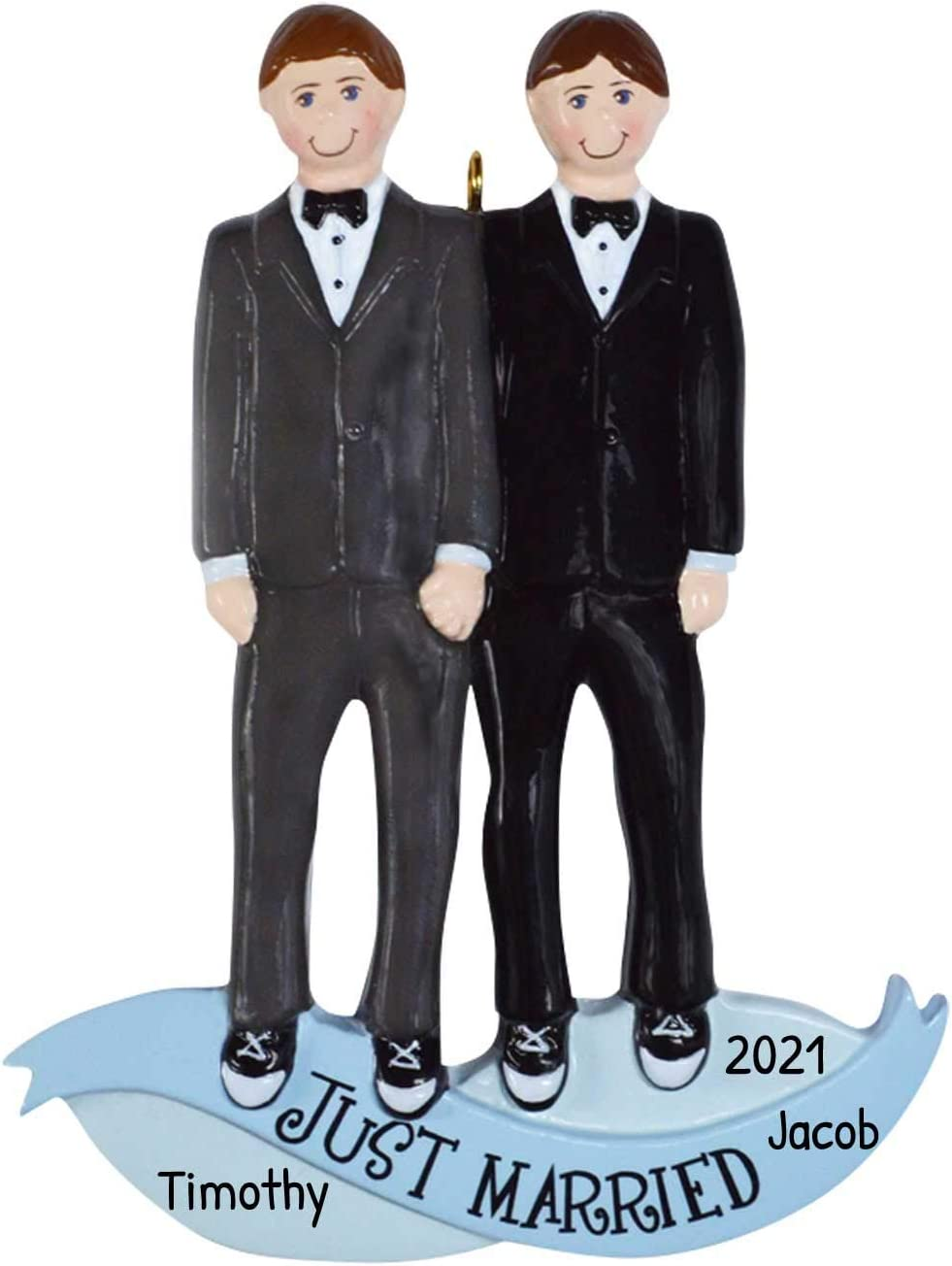 PK 3 MALE CIVIL PARTNERSHIP EMBELLISHMENT TOPPERS FOR CARDS