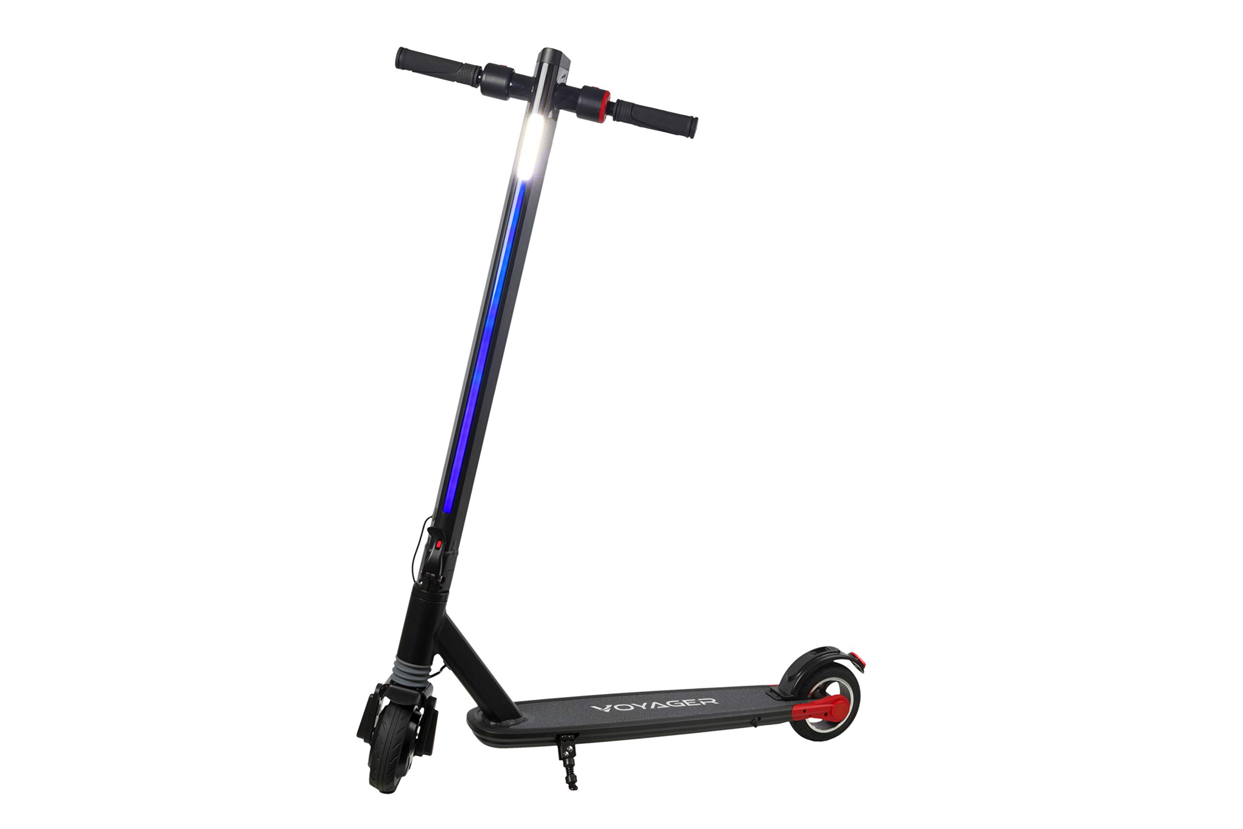 Voyager Proton Foldable Electric Scooter with LCD Display, LED Headlight and Light Strip, 15 MPH Max Speed, Long Range Battery up to 6 Miles by VOYAGER