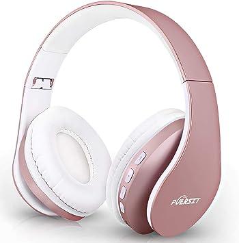 Puersit Auriculares Bluetooth con Micrófono, Cableados y Inalámbricos Plegable Estéreo Cascos para Tableta, Movil, TV Inteligente con Bluetooth: Amazon.es: Electrónica