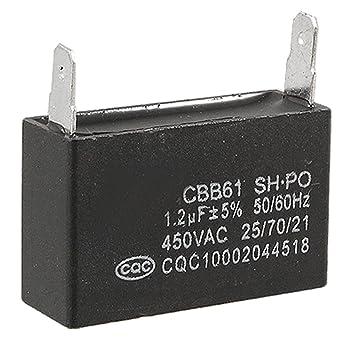 CBB61 1.2uF 5% 450V AC Pp-Folie Kondensator Motor Run: Amazon.de ...
