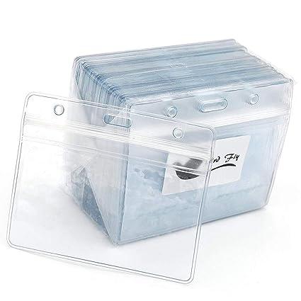 Tarjetas de identificación 50 pcs claro plástico ...