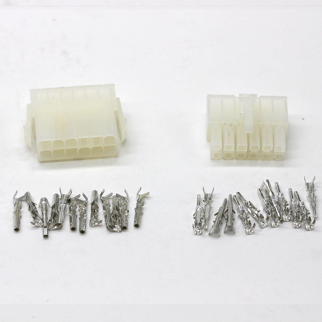 50 sets kit 12p Automobile wire connector plug 5557 5566 plastic terminal plug spring terminals computer