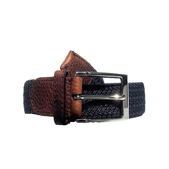 a461e128cf81 ekkstrafein Exempte de substances nocives  ceinture extensible 125cm  (bleu brun cuir) hommes femmes cuir véritable ceinture en tresse ceinture  en cuir ...