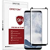 OMOTON Samsung Galaxy S8 Plus Screen Protector - Full Coverage Tempered Glass Screen Protector - [3D Round Edge] [9H Hardness] [Crystal Clear] [Scratch Resist] for Galaxy S8 Plus (2017 Released) , Black