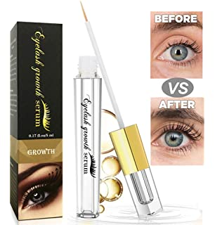 f97a94d0a57 Eyelash Growth Serum, Lash Booster & Eyebrow Enhancer Serum to Grow Thicker,  Longer Lashes