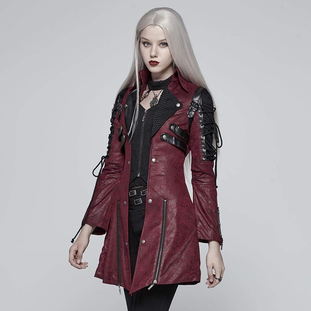 Punk Rave - Blouson - Blouson - Femme Rouge Noir Rouge