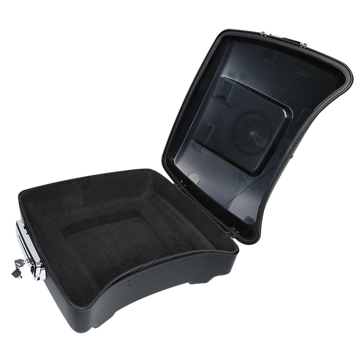 XFMT 10.7 Chopped Tour Pak Pack Trunk W//Latch Compatible with Harley Street Road Glide 2014-19