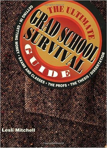 Ultimate Grad School Survival Guide Lesli Mitchell 9781560795803
