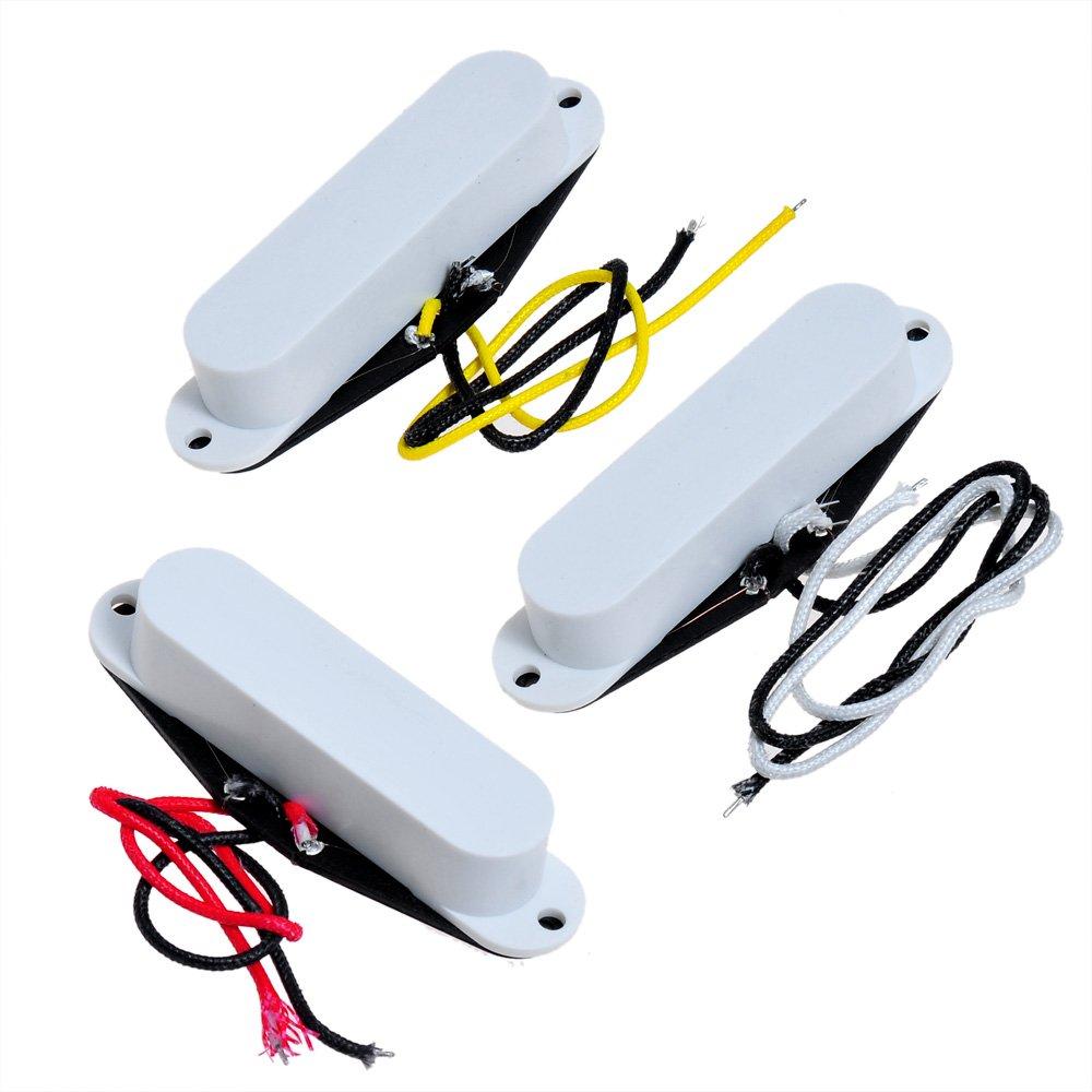 1set Of 3 White Cover Noiseless Pickup Alnico V Vintage Humbucker Singlecoil Wiring Single Coil Be Musical Instruments