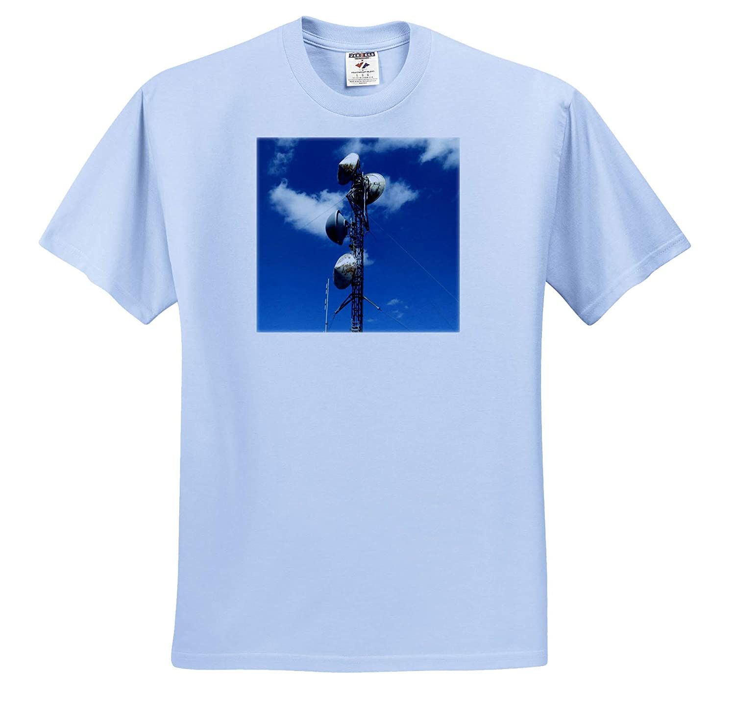 Electricity Poles up Towards The deep Blue Sky ts/_318869 3dRose Jos Fauxtographee- Electricity Adult T-Shirt XL