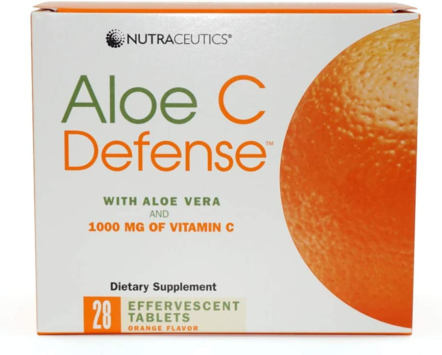 Nutraceutics Aloe C Defense, Orange Flavor, 28 effervescent tablets