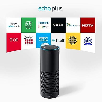 Black Amazon Echo Alexa Voice Control Personal Assistant /& Bluetooth Speaker