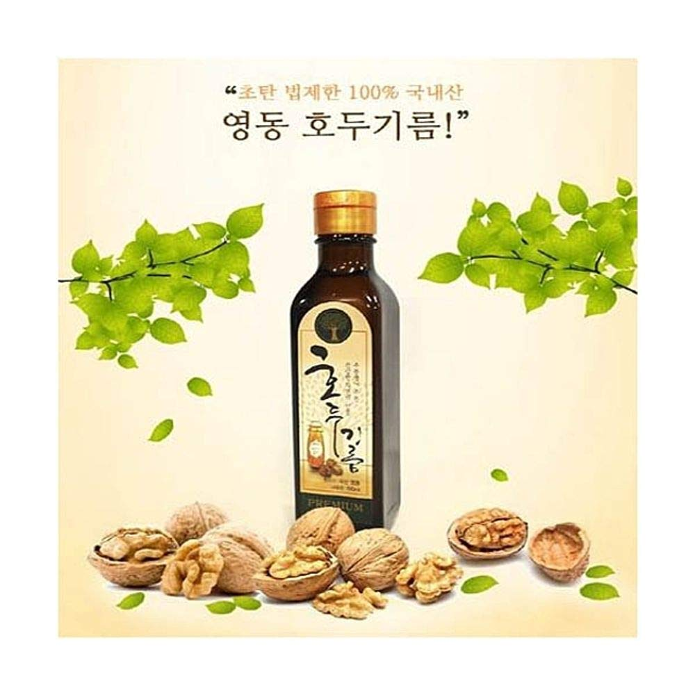 Walnut Oil 180ml for Cooking 100% Korean Walnut