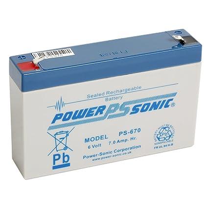 Potencia sonora PS670 6 V 7Ah AGM Batería - apto para ...