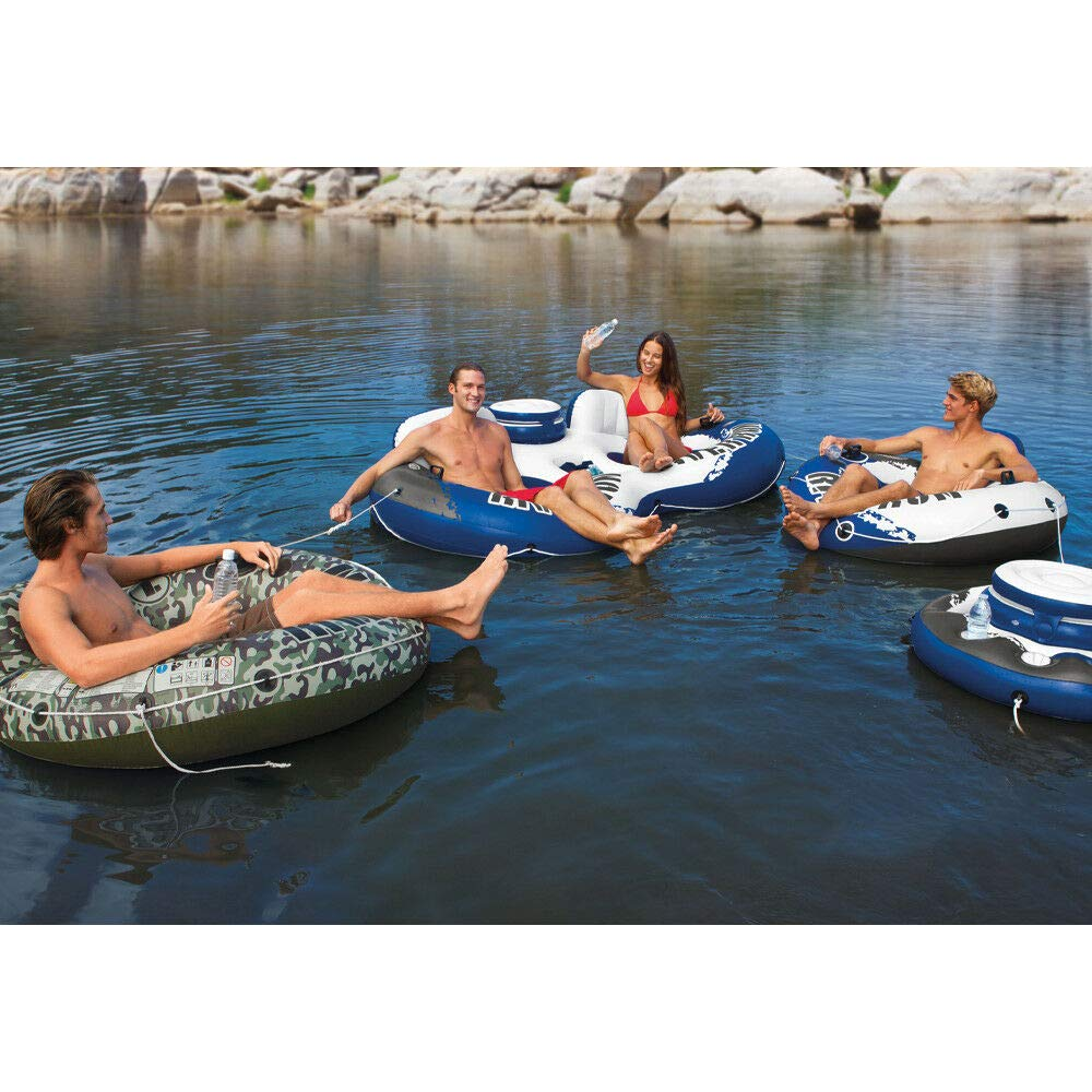 MRT SUPPLY River Run 1 Person Inflatable Floating Tube Lake/Pool/Ocean Raft (48 Pack) with Ebook by MRT SUPPLY (Image #1)