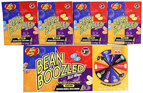 2 Jelly Belly Bean Boozled Spinners and 8  Refill Boxes,