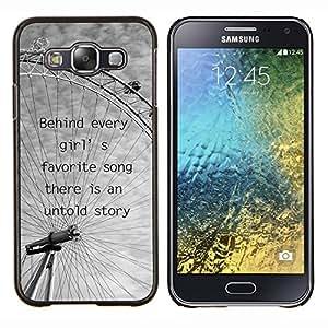 YiPhone /// Prima de resorte delgada de la cubierta del caso de Shell Armor - Noria de Londres Nubes grises de ojos Negro Blanco - Samsung Galaxy E5 E500