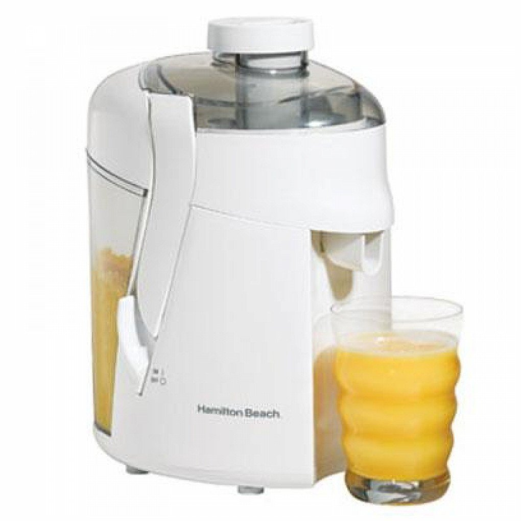 Hamilton Beach Health Smart Juice Extractor Stainless Steel White 350 W