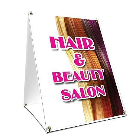 SignMission Cartel de Salón de Belleza con gráficos en Cada ...