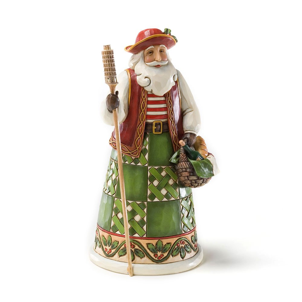 Jim Shore Heartwood Creek Italian Santa Stone Resin Figurine, 6.875""