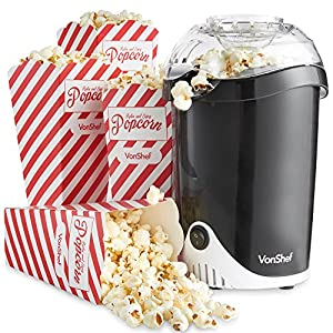 Fat-Free Hot Air Popcorn Maker with 6 Popcorn Boxes