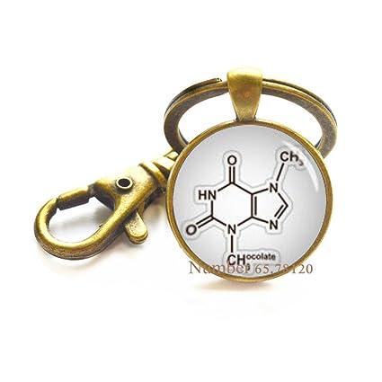 Llavero bioquímico, molécula de chocolate, teobromina ...