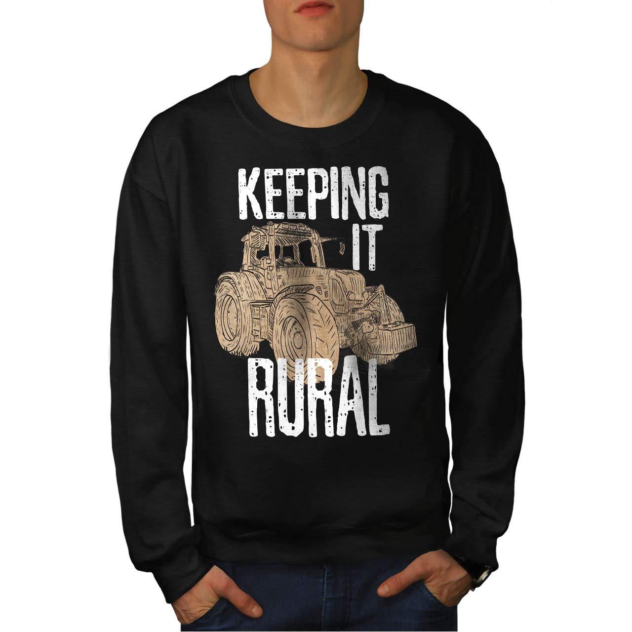 wellcoda Keeping It Rural Mens Sweatshirt Farmer Casual Jumper