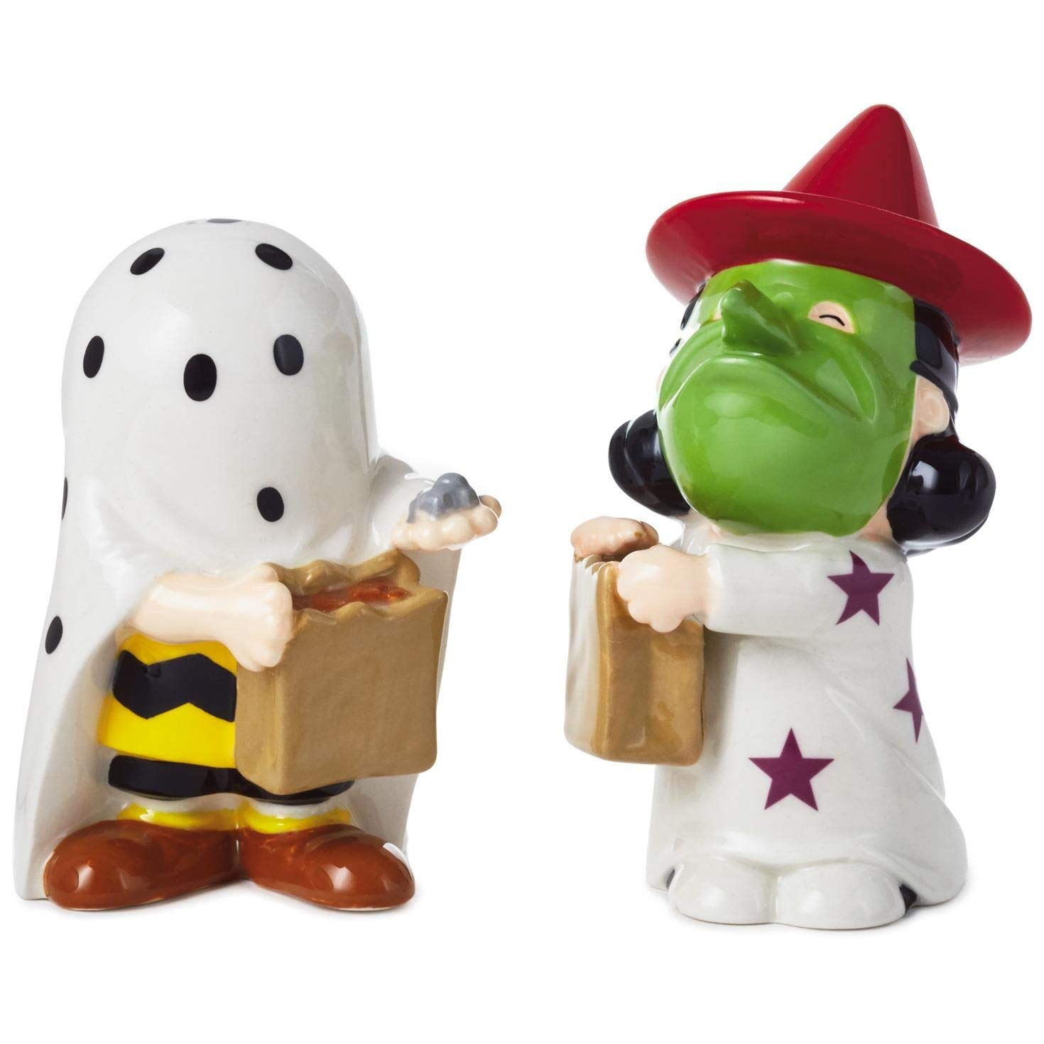 Peanuts Halloween Ceramic Salt and Pepper Shakers, Set of 2 Kitchen Accessories Movies & TV