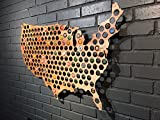 USA Beer Cap Map - Over 3 feet across - Holds 177 caps offers