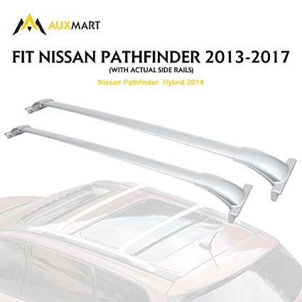 AUXMART Roof Rack Cross Bars for 2013-2017 Nissan Pathfinder (Silver)