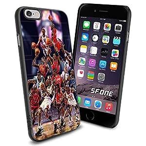 NBA Basketball Player The Legend Michael Jeffrey Jordan , Cool iphone 6 plusd 5.5 Smartphone Case Cover Collector iphone TPU Rubber Case Black