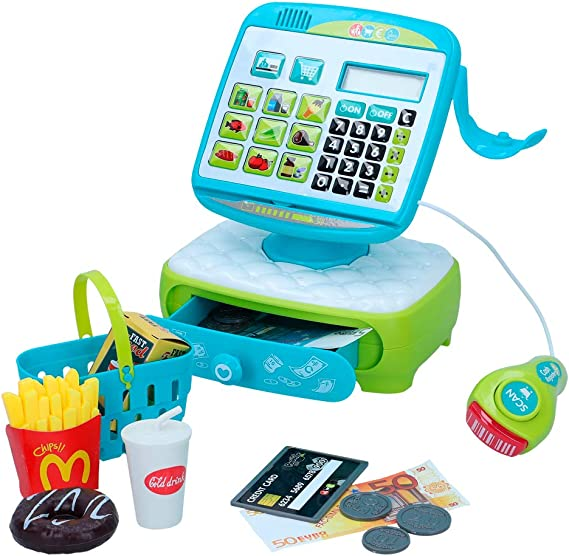 ColorBaby - Caja registradora eléctrica con accesorios My Market (49161): Amazon.es: Juguetes y juegos
